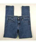 Uniqlo Jeans Womens Sz 12 32 Straight Leg Mid Rise Medium Wash Denim Pants - $24.12