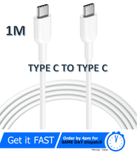 USB C Type-C to Type-C PD Fast Charger Cable Data Sync For Apple Macbook... - $3.74