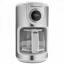 12 Cup KitchenAid Coffee Maker White With Glass Carafe Drip Coffee Maker... - $79.19