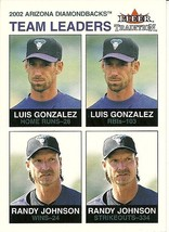 2003 Fleer Tradition Glossy Luis Gonzalez Randy Johnson 2 Diamondbacks 0... - $4.00