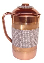 Ayurveda health benefit Healing yoga pitcher Vessel Copper Jug for water... - $32.54
