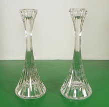 Mikasa Crystal PARK LANE Single Light Candlestick PAIR 2 Made in Germany... - $29.65