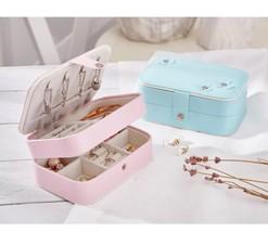 Casegrace Ring Jewelry Box Jewelry Portable Mini Travel Jewelry Earrings... - €29,99 EUR