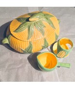 Figural Shawnee Corn Serving Bowl Set 4Pc Casserole Tureen Covered Dish Ceramic - $49.07