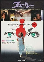"""THE FURY - 20""""x28.5"""" Original Movie Poster Japanese B2 ROLLED 1978 Brian... - $97.99"""