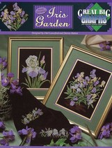 Iris Garden Cross Stitch Leaflet Great Big Graphs PATTERN/INSTRUCTIONS/NEW - $3.57