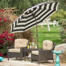 7.5-Ft Patio Umbrella w/ Dark Navy and White St... - $145.83