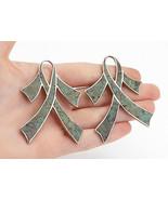 TAXCO MEXICO 925 Silver - Vintage Jasper Ribbon Design Dangle Earrings -... - $61.39