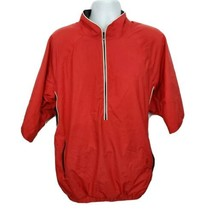 Footjoy Dry Joys Tour Collection Half Zip Pullover Golf Jacket Size XL Red - $44.50