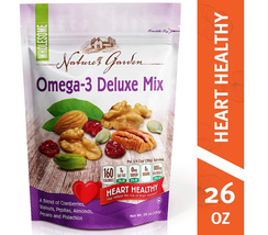 Nature's Garden Omega-3 Deluxe Nut Mix, 26 oz (Pack of 1) - $26.99
