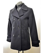 Lands' End Black Wool Blend Fully Lined Double Breasted Peacoat - Women'... - $66.45