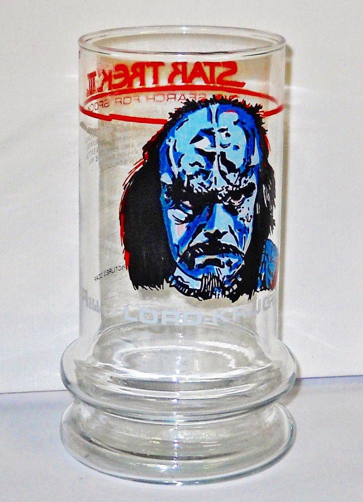STAR TREK  LORD KRUGE Promo Glass Spock Lives Movie 1984
