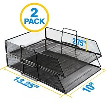 OfficeEmpire Metal Mesh Stackable Document Paper Tray Desk Organizer |13... - $20.67