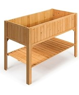Wooden Elevated Planter Box Shelf Suitable for Garden Use - £124.22 GBP