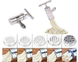 Noodle Maker Pasta Making Machine Stainless Steel Tool Vegetable Fruit J... - $28.16