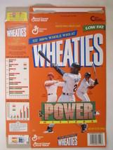 Empty Wheaties Box 1998 12oz Power Hitters Mcgwire Griffey Martinez [Z202g4] - $4.78