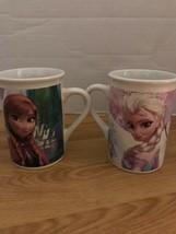 Pair of 2014 Disney Frozen Coffee Mugs by Frankford Candy LLC. Elsa Anna Olaf - $22.76