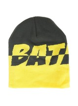 DC Comics Batman Yellow & Grey Split Beanie Hat - NWT - $14.03