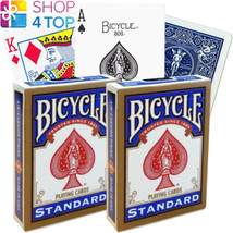 2 DECKS BICYCLE RIDER BACK STANDARD INDEX BLUE PLAYING CARDS USPCC NEW - $11.70