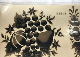 Home Decor Decals Gold Black Fruit Floral Autumn Vintage Meyercord NIP X... - $5.59