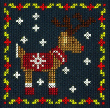 DMC Chistmas Counted Cross Stitch Kit - Reindeer - $5.49
