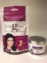 Set Colageina 10 Crema Anti Edad+Colageno POLVO/ANTI-AGING Cream+Collagen Powder - $34.60