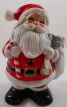 Vintage Homco Santa Claus Christmas Bank with Plug #5212 Mouse - $9.89