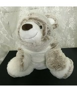 "GUND Kobie Plush Bear Stuffed Animal 11"" Sitting Tan and White Super Soft - $20.66"