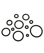 "PAIR-Replacement Silicone Black O Rings For Ear Plugs/Tapers 16mm/5/8"" G... - $5.49"