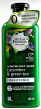 2 Herbal Essences Bio Renew Lightweight Cucumber & Green Tea Conditioner 400ml - $19.99