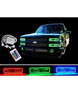 88-98 Chevy GMC Truck Multi-Color Changing LED Shift RGB Headlight Halo ... - $199.95