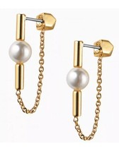 Authentic New Stella & Dot Sophie Pearl Earrings - $17.82