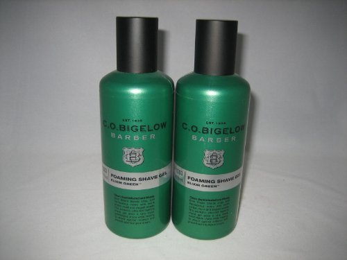 C.O. Bigelow Barber Foaming Shave Gel - Elixir Green - TWO Bottles!