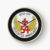 US Army DUSTOFF 54 Helicopter Ambulance Wall Clock - $69.29