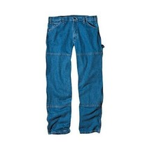 Dickies Men's Relaxed Straight Fit Denim Carpenter Jeans Blue 42X30 #J186 - $29.99