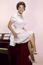 Connie Francis pin-up crossed legs cute dress sitting on piano 18x24 Poster - $23.99
