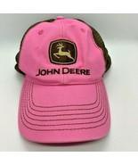 John Deere Hat Snapback Pink Brown Baseball Cap  - $6.92