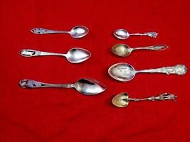 Group of 7 Unique Vintage Sterling Silver Souvenir Spoons (#4786) - $119.00