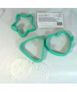 Pampered Chef Easy Pancake Molds With Emoji Stencils 1839 Heart Star Tri... - $15.79