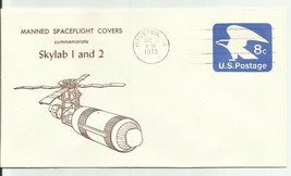 Manned Spaceflight Covers Commemorates Skylab 1 & 2 Houston, Tx 5/16/1973 - $1.98