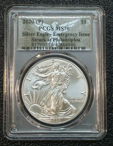 2020 P American SILVER EAGLE Dollar $1 EMERGENCY ISSUE PCGS MS70 Coin sku c144