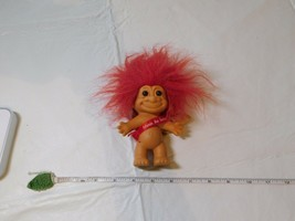 Vintage Valentine Red Hair Troll Doll Friends are forever Russ 18290 cup... - $13.89