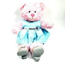 Build A Bear Winter Blue Dress Pink Bear Snowflake Clear Heels Silver Shoes BAB  - $49.95