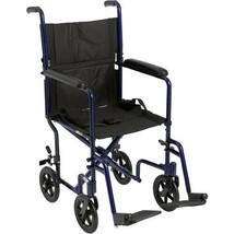 Medical Lightweight Transport Wheelchair Home Health Care Alluminum Fram... - $196.44