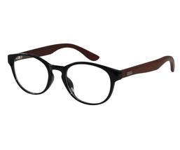 Reading Glasses Unisex Horned Rim Round Lens Wood Temples ckbj0101w-black - $24.12+