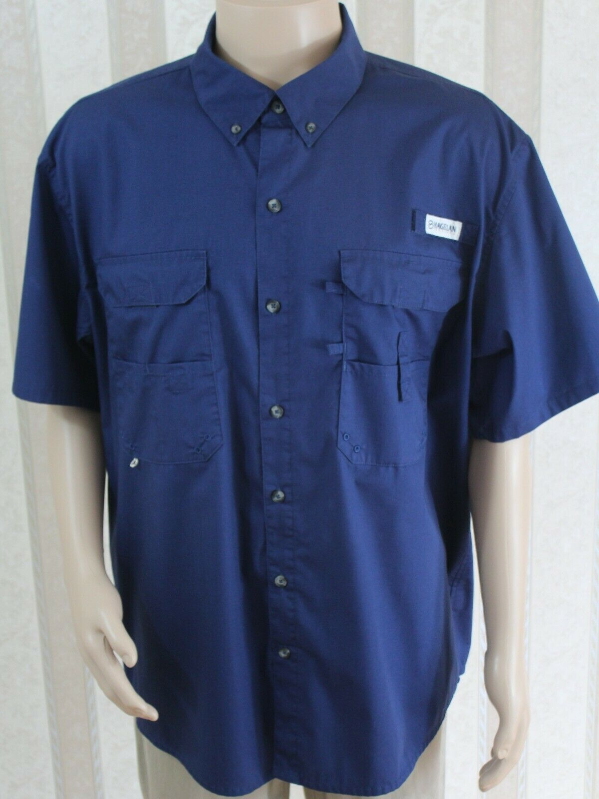 Lot of 3 MAGELLAN Outdoors Sportswear Men's XL Angler Fit Button Down Shirts EUC
