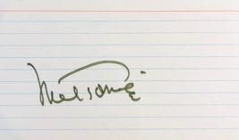 Mel Torme Autographed Hand Signed 3X5 Index Card Signature The Velvet Fog Singer - $29.99
