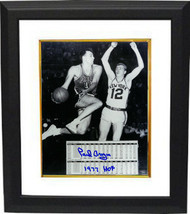 Paul Arizin signed Philadelphia Warriors 8x10 Photo Custom Framed 1977 H... - £64.94 GBP