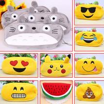 Emoji Pencil Pen Case Storage Cute Bag Box School Kids Makeup Cosmetic P... - $5.21