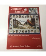 Country Sampler Coss Stitch Pattern Book Jeanette Crews Designs ABC Chicken - $9.74